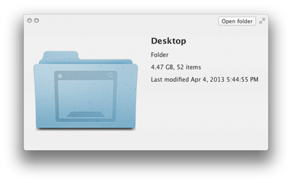 clear desktop on mac