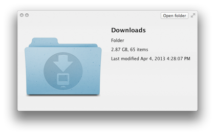 clear downloads folder mac
