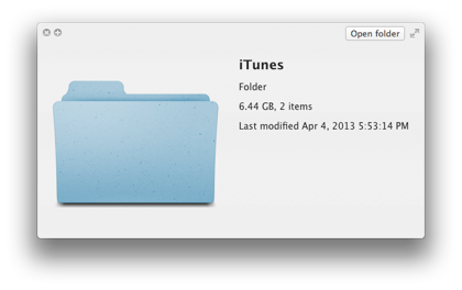 clear itunes folder on mac