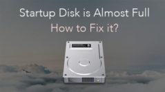 startup disk full fix