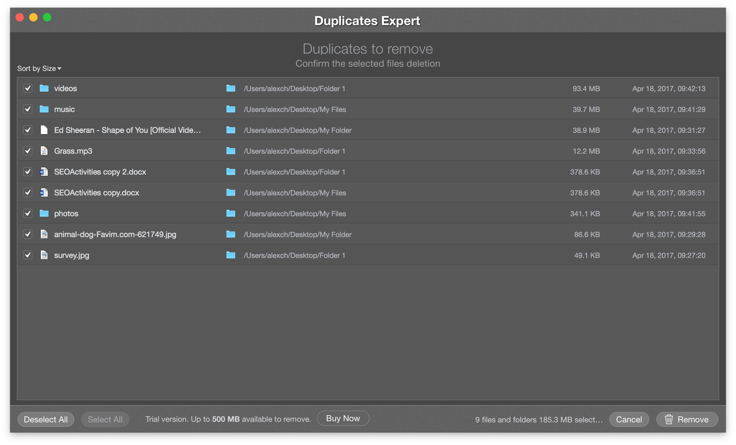 duplicate deleter