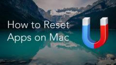 reset apps