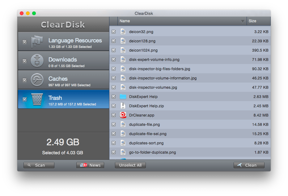 claer-disk-help-trash