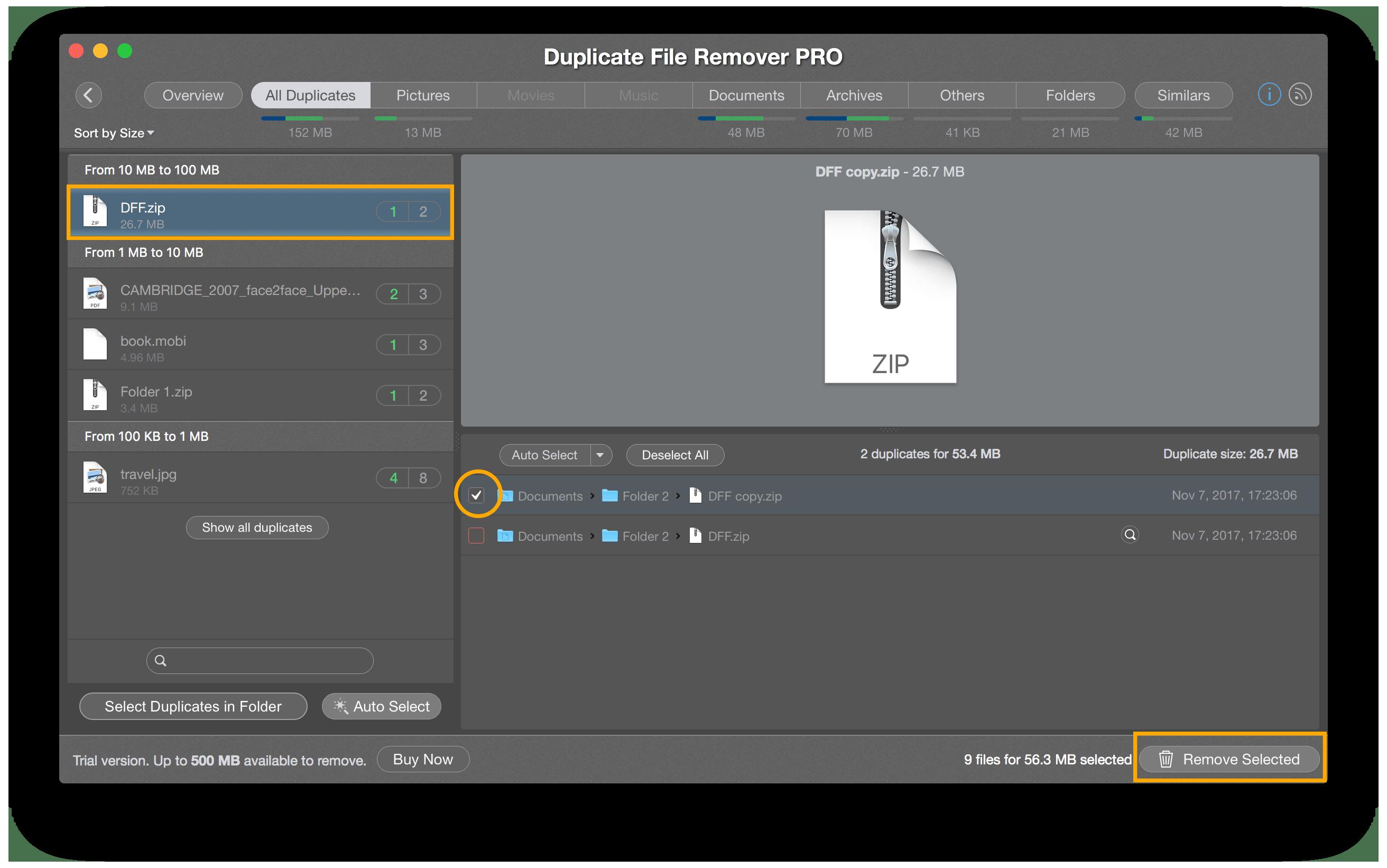 find duplicate files mac