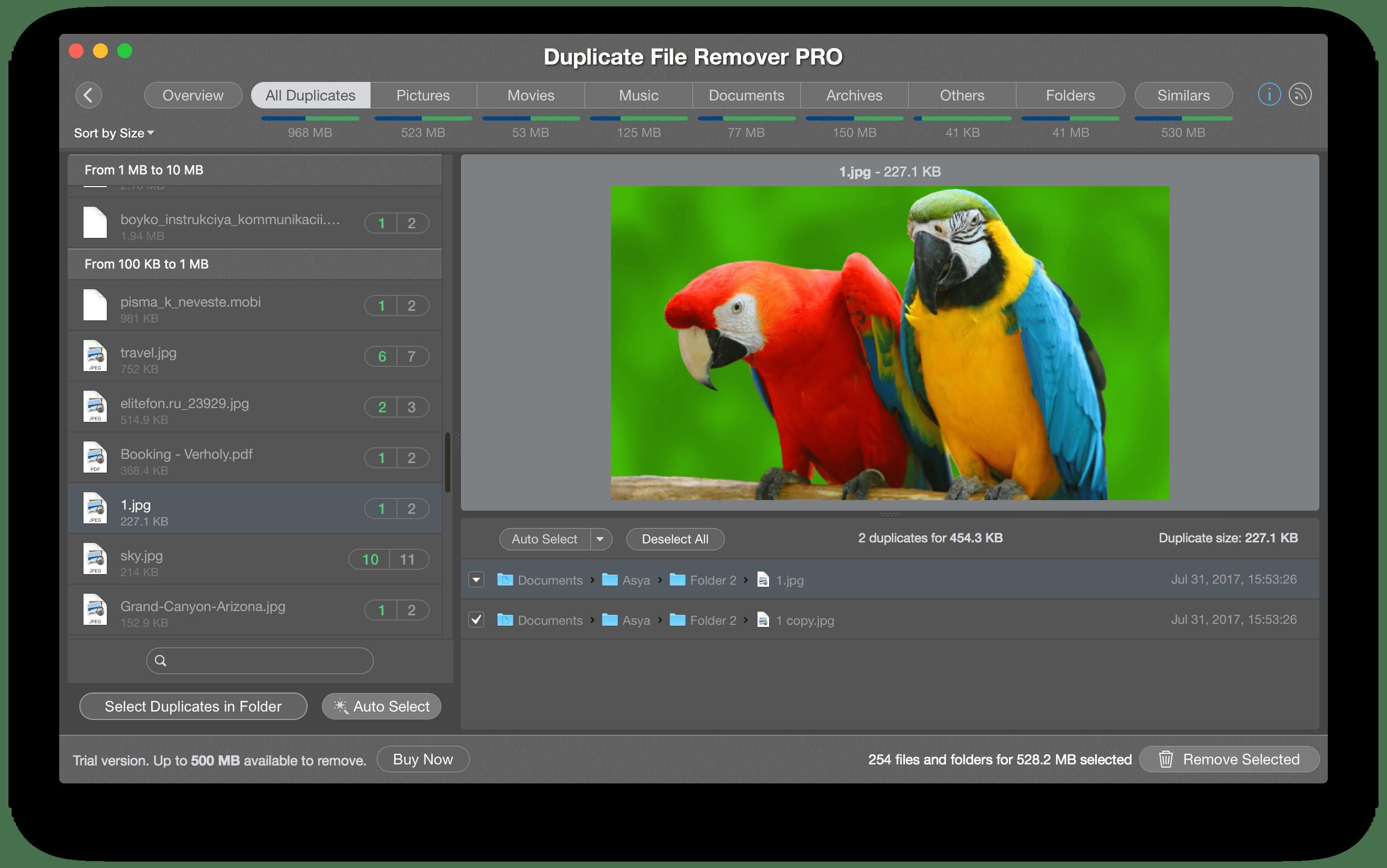 duplicate file remover mac