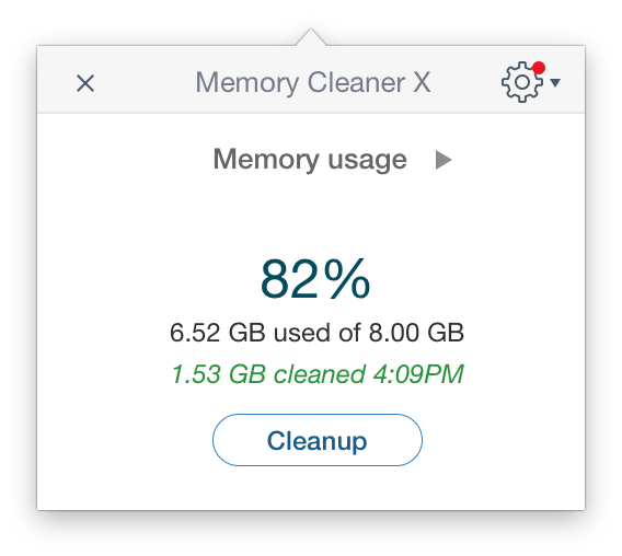 memory cleaner interface less