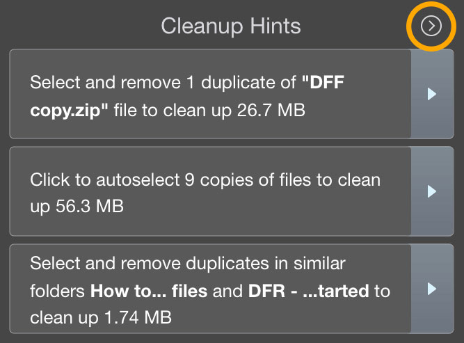 update cleanup hints