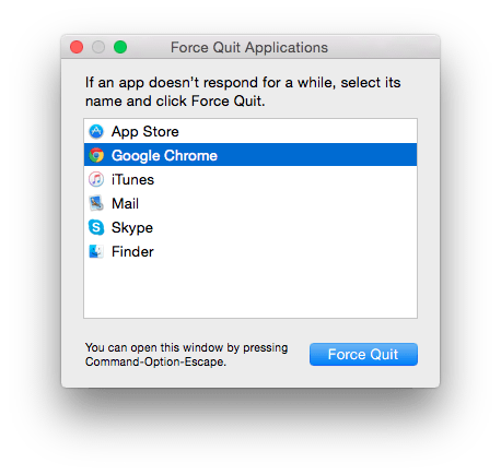 Force quit apps #1
