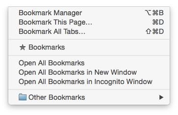 bookmarks chrome 2