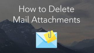 mac mail attachments