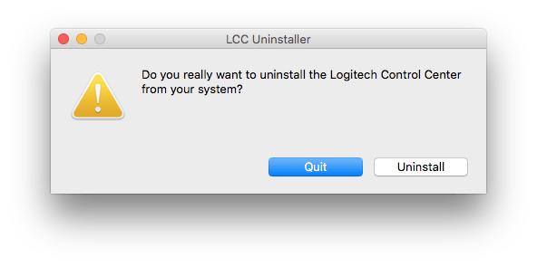 Uninstall Logitech Control Center from Mac