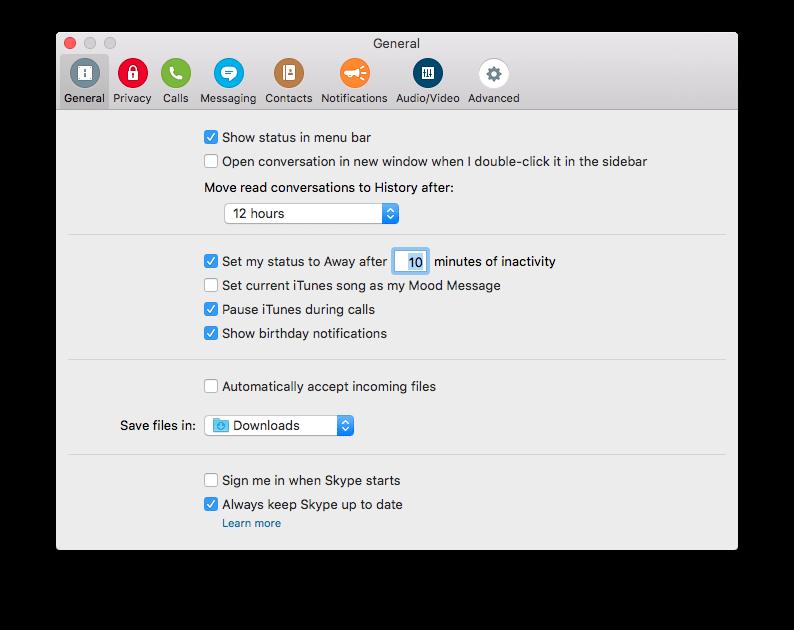 Downloads folder on Mac