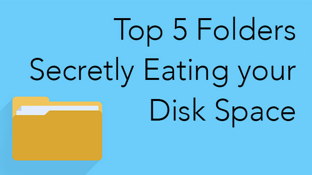 eat up disk space