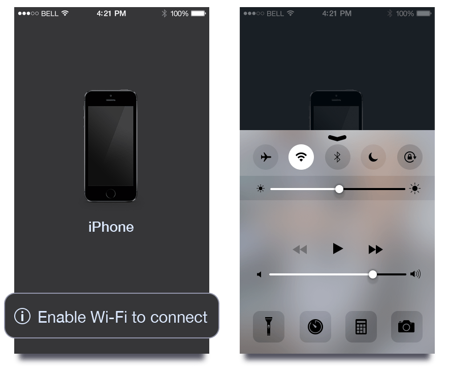 interPhotos iOS Wi-Fi