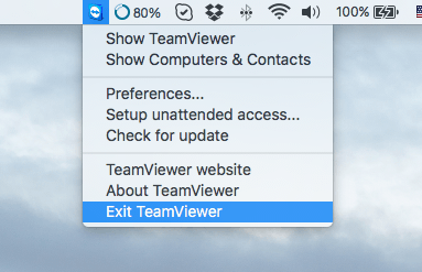 uninstall teamviewer from Mac