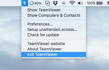 uninstall teamviewer from Mac
