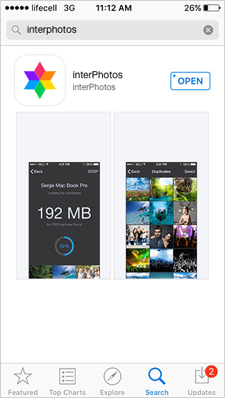 Download interPhotos from iTunes