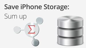 iphone storage save