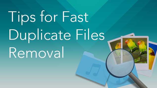 Tips for fast duplicate file removal