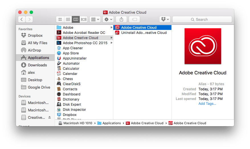 How to Uninstall Adobe Photoshop CC (2015) from Mac