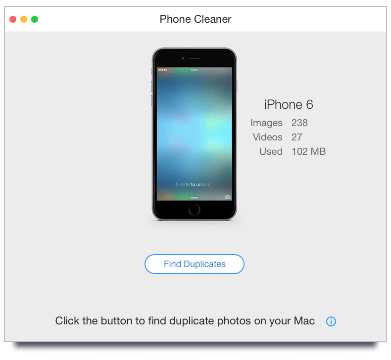 Phone Cleaner Mac scan