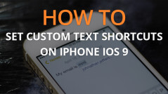 How to Set Custom Text Shortcuts