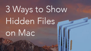 show hidden files on Mac