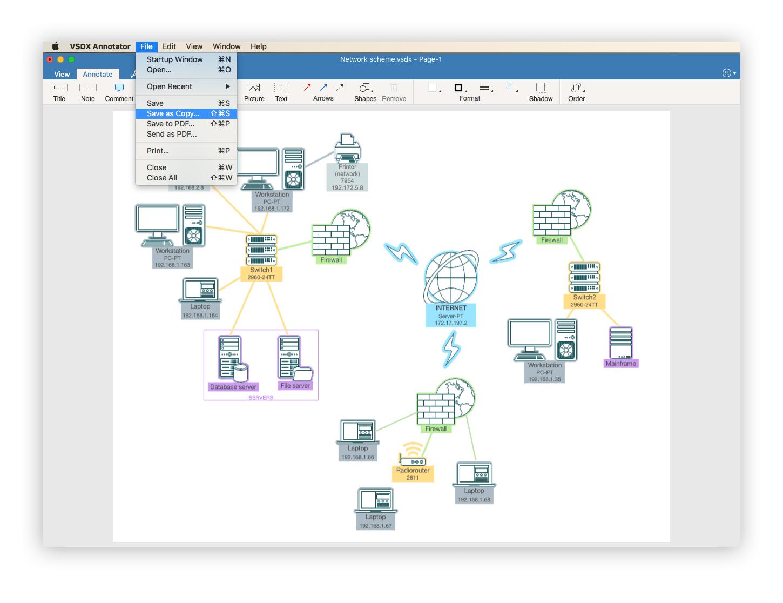 VSDX Annotator save in vsdx