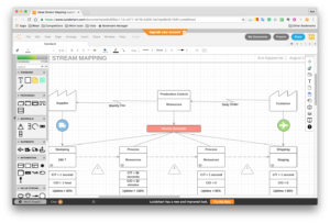 Lucidchart web application opened in browser