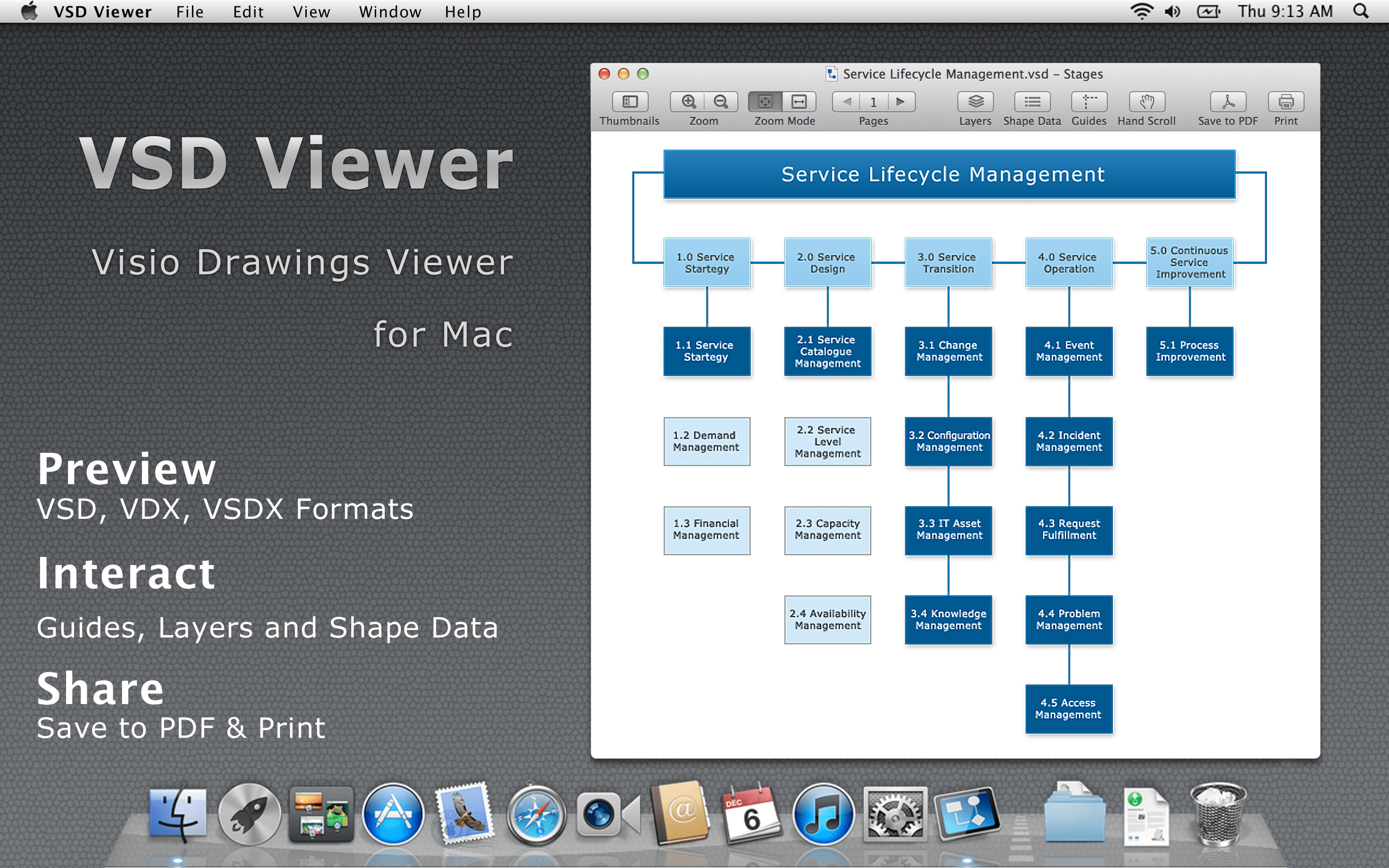 VSD Viewer - Visio® Viewer for Mac 6.2.1 full
