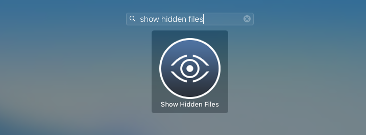 find hidden files