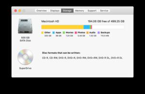 mac how to find storage usage