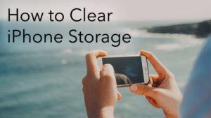 clear iOS storage