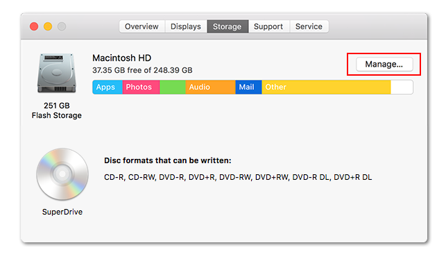 find largest files on macOS