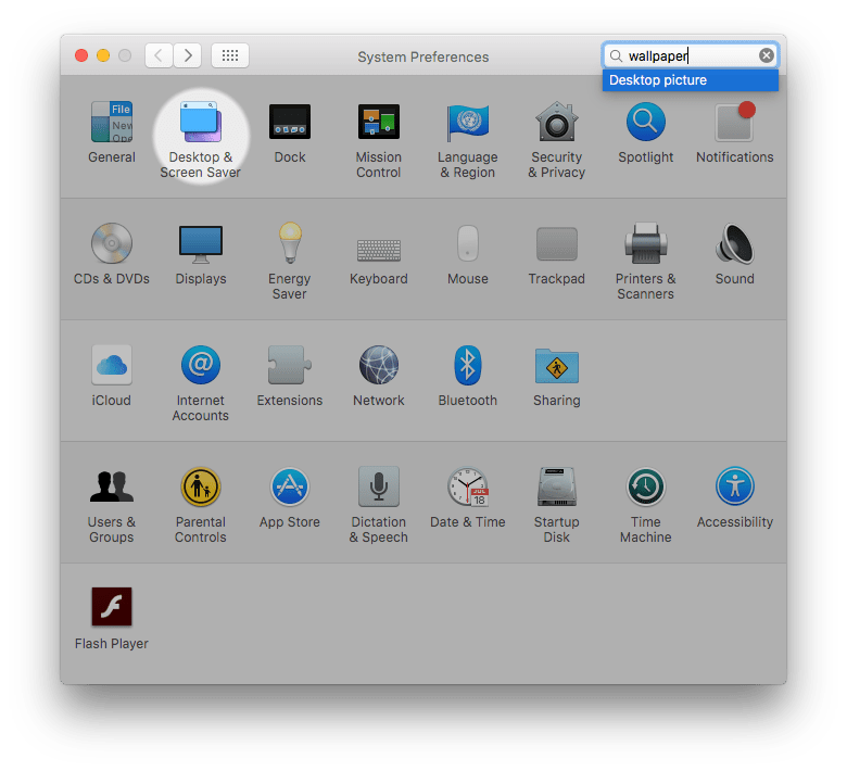 Mac system preference pane icons