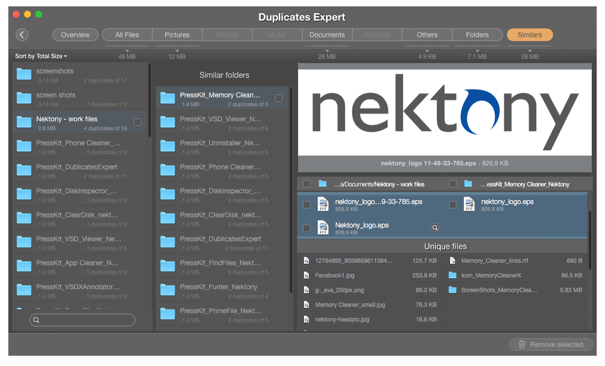 preview duplicate files