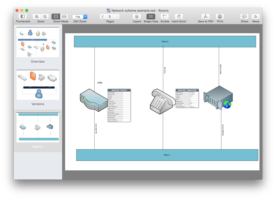 Top 7 Visio Viewers For Mac Comparison Chart Conceptdraw Pro Compatibility With Ms Opening Vsd Files