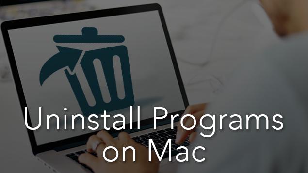 uninstall program mac