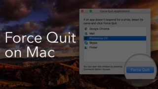 how to force quit in mac