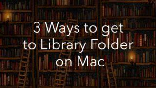 mac library folder