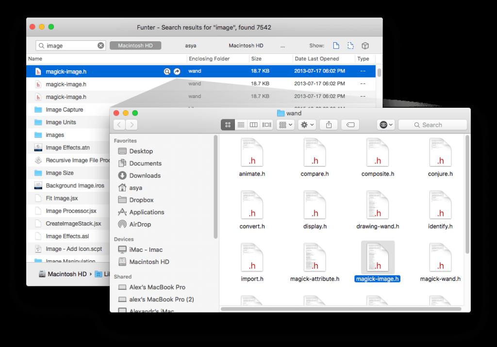 Funter files location