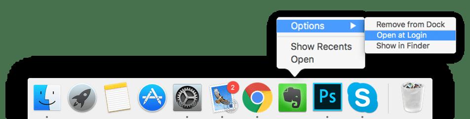 change startup programs mac