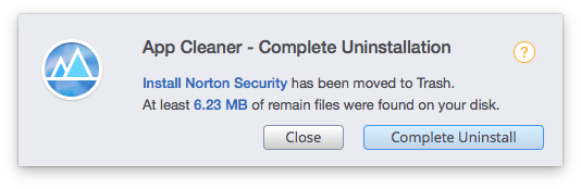 norton removal