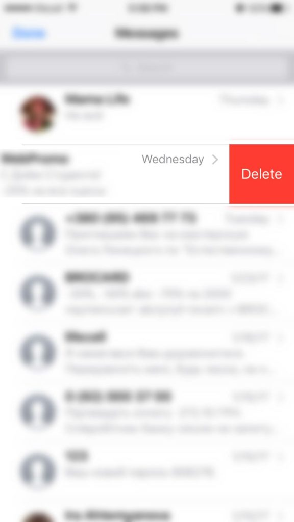 how to delete saved messages on iphone