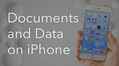 how to delete documents and data iphone