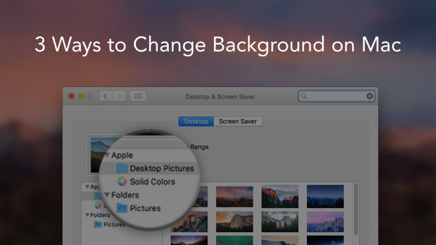 How to change background on Mac