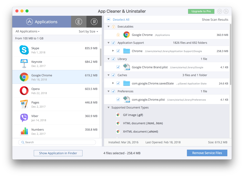 uninstall application mac