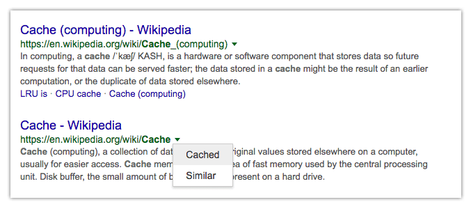 about cache