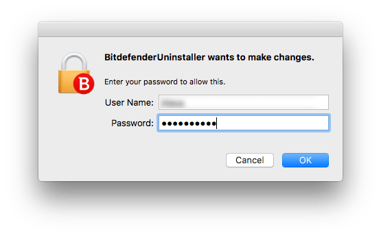 allow to remove bitdefender
