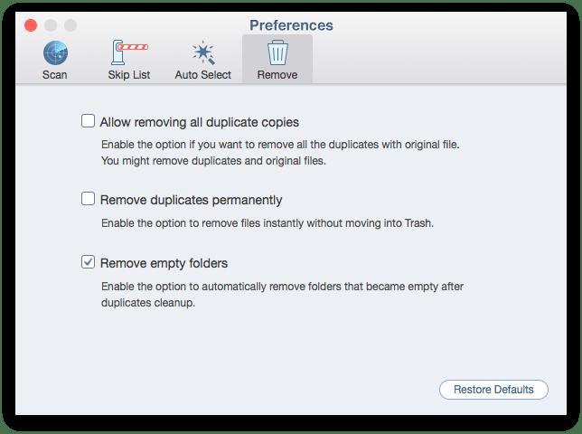 remove tab